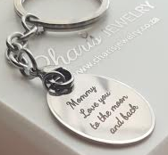 PK2 - Personalized Keyring, Stainless Steel Oval 30mm x 21mm