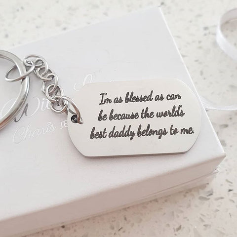 KR15D - Personalized Gift Keyring, Stainless Steel
