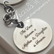 PK1 - Personalized Keyring, Stainless Steel, round 30mm