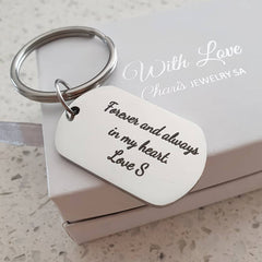 Personalized engraved keyrings online shop in South Africa