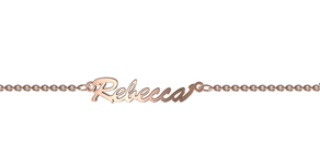 NN102 - 9KT Rose Gold Personalized Name Bracelet