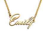 N414 - 18k Gold Plating Extra Strength Tiny Name Necklace