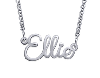 N785 - 925 Sterling Silver Personalized Wire Cursive Name Necklace