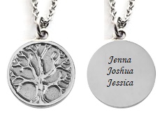 Personalized Tree of life necklace online shop in South Africa
