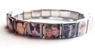 PLC4 - Personalized Photo Italian Charm Bracelet (18 Photos)