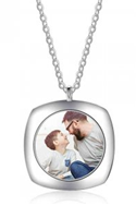 NJ103 - 925 Sterling Silver Photo Necklace with back engraving