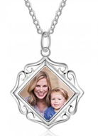 NJ102 - 925 Sterling Silver Photo Necklace with back engraving