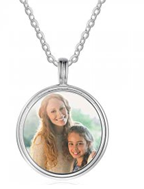 NJ101-CBA102628 - 925 Sterling Silver Photo Necklace