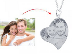 N783 - 925 Sterling Silver Personalized Photo Picture Necklace
