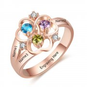 N2023 - CRI103641 - Personalized Rose Gold over 925 Sterling Silver CZ Ring