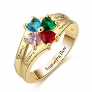 Gold personalized names and birthstones ring online shop South Africa