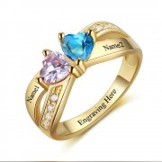 N2043 - Personalized Gold over 925 Sterling Silver Ring