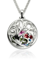 G103 - 925 Sterling Silver Personalized Family Tree Birthstone Necklace