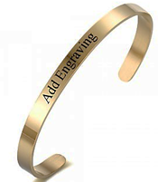 CBA101916 - Personalized Bangle, Gold Stainless Steel, 5mmx18cm