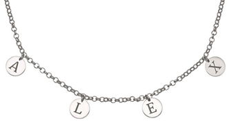 N544 - 925 Sterling Silver Personalized Initials Necklace