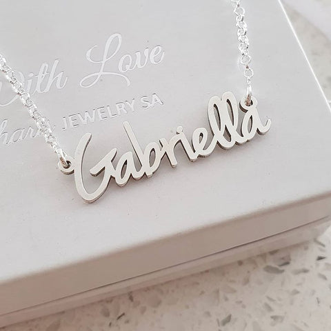 N294 - Personalized Tiny Name Necklace in Extra Strength 925 Sterling Silver