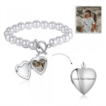 CBA104083 - Personalized Photo Bracelet, Stainless Steel