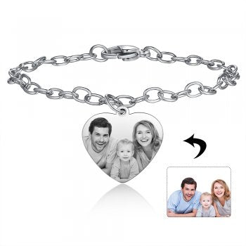 CBA103153 - Personalized Photo Bracelet,Stainless Steel