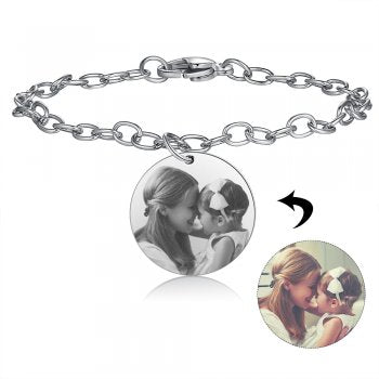 CBA103155 - Personalized Photo Bracelet,Stainless Steel