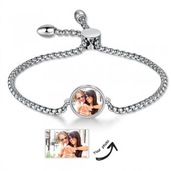 CBA103553 - Personalized Photo Bracelet,Stainless Steel