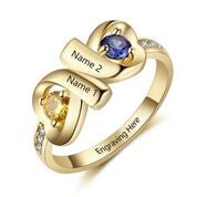 CRI103560 - Gold Plated 925 Sterling Silver Personalized Ring