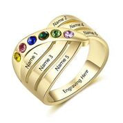 CRI103491 - Gold Plated 925 Sterling Silver Personalized Ring