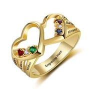 CRI103572 - Gold Plated 925 Sterling Silver Personalized Ring
