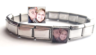 PLC1 - Custom Photo Italian Charm, Stainless Steel, standard size, fits popular brands