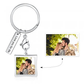 CAS102616 - Personalized Photo keyring, Stainless Steel
