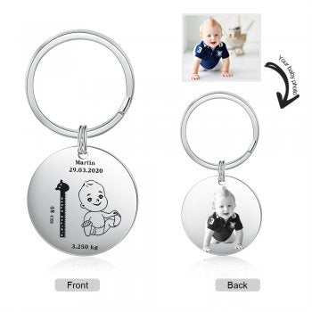 CAS102626 - Personalized Photo keyring, Stainless Steel