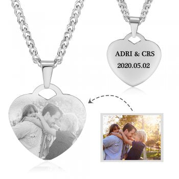 CNE104728 - Personalized Photo Necklace, Stainless Steel