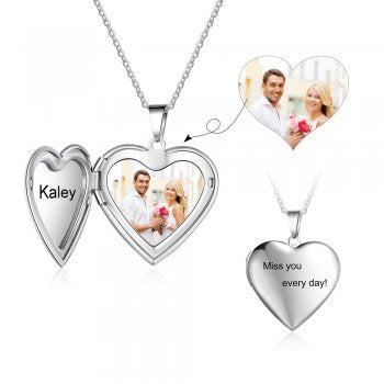 CNE104199 - Personalized Photo Necklace, Stainless Steel