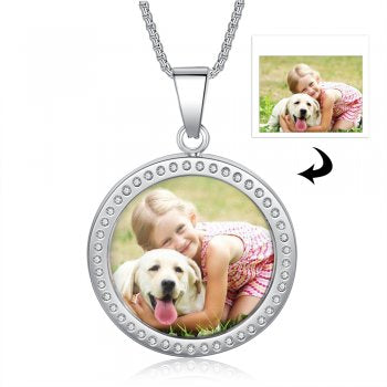 CNE105225 - Personalized Photo Necklace, Stainless Steel
