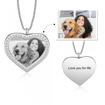 CNE105229 - Personalized Photo Necklace, Stainless Steel