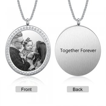 CNE105226 - Personalized Photo Necklace, Stainless Steel