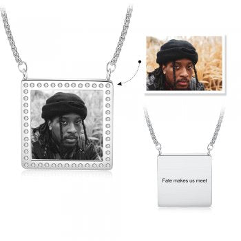 CNE105228 - Personalized Photo Necklace, Stainless Steel