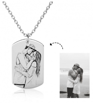 CNE104032 - Personalized Photo Necklace, Stainless Steel