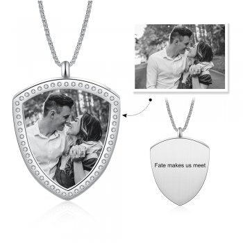 CNE105230 - Personalized Photo Necklace, Stainless Steel