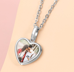 CNE103619 - 925 Sterling Silver Personalized Photo Necklace