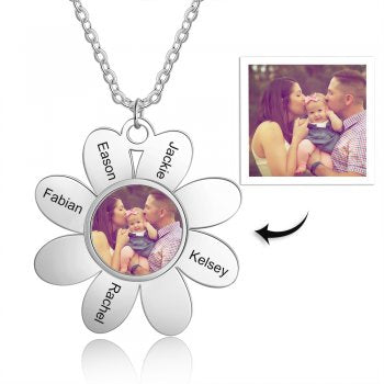 CNE105184 - Personalized Photo Necklace with engraving, Stainless Steel