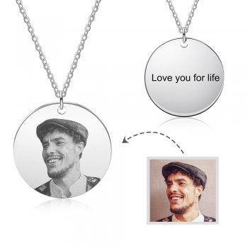 CNE105273 - Personalized Photo Necklace with engraving, Stainless Steel