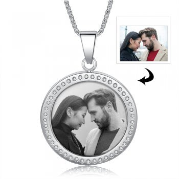 CNE105504 - Personalized Photo Necklace with engraving, Stainless Steel