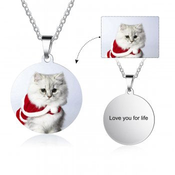 CNE104646 - Personalized Photo Necklace, Titanium Stainless Steel