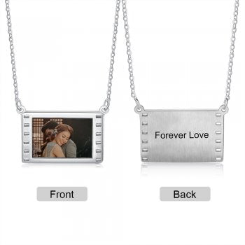 CNE105146 - Personalized Photo Necklace with engraving, Stainless Steel