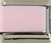 Single Plain Italian Charm Link, Pink Stainless Steel
