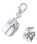 C675-C19090 - 925 Sterling Silver Present Gift Box Dangle Charm