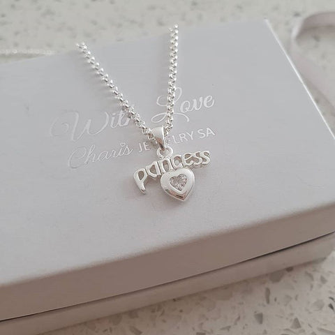 C14628 - 925 Sterling Silver Princess Necklace
