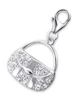 C251-C20299 - 925 Sterling Silver Handbag Dangle Charm