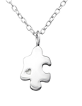 C349-C27312 - 925 Sterling Silver Puzzle Piece Necklace