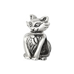 C1174-C5444 - 925 Sterling Silver Cat European Charm Bead